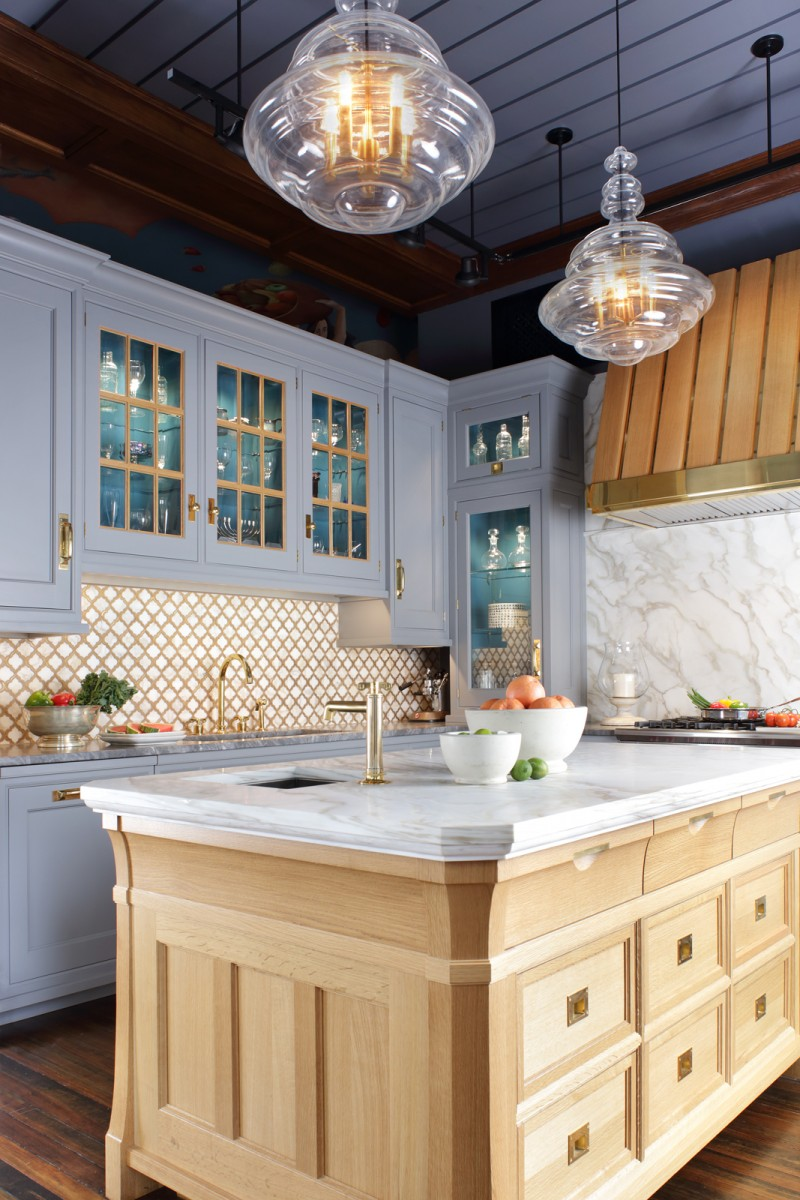 Natural Walnut Kitchen Island In Summit New Jersey: The Hammer And Nail